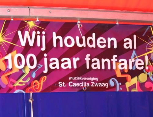 Banner 100 jaar St. Caecilia Zwaag