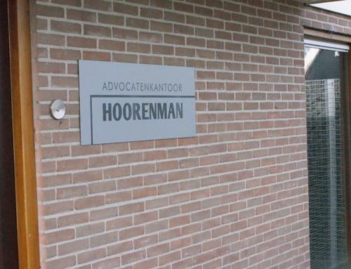 Buitenreclame Advocatenkantoor Hoorenman