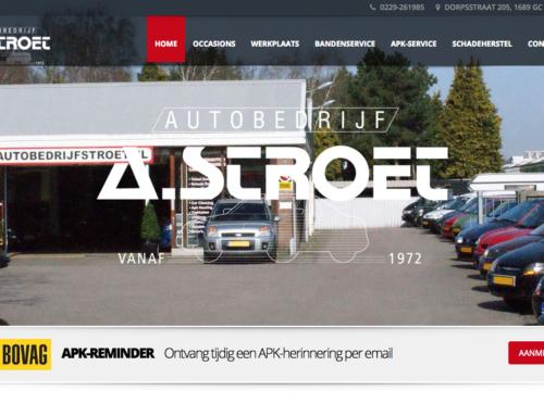 Website Autobedrijf A. Stroet