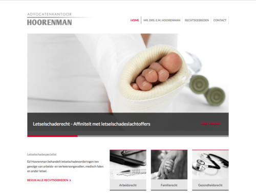 Website Advocatenkantoor Hoorenman