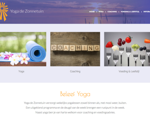 Website Yoga de Zonnetuin