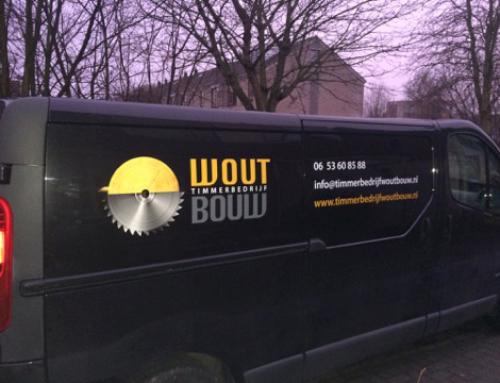 Bedrijfsbus bestickering Timmerbedrijf Wout Bouw