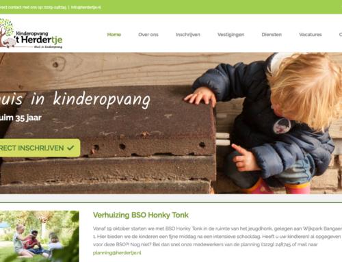 Website Kinderopvang 't Herdertje