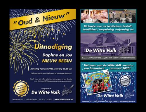 Uitnodiging opening en advertenties De Witte Valk